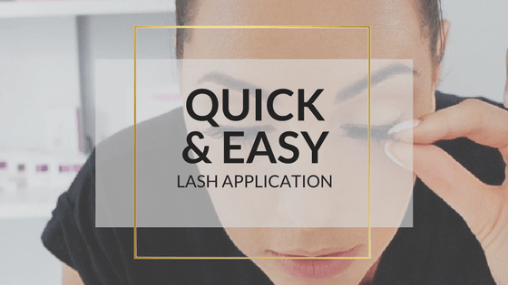 Quick And Easy False Eyelash Application